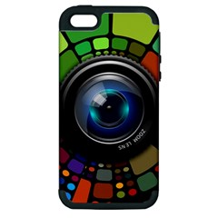 Lens Photography Colorful Desktop Apple Iphone 5 Hardshell Case (pc+silicone)