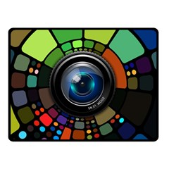 Lens Photography Colorful Desktop Double Sided Fleece Blanket (small)