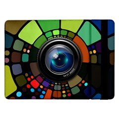 Lens Photography Colorful Desktop Samsung Galaxy Tab Pro 12 2  Flip Case