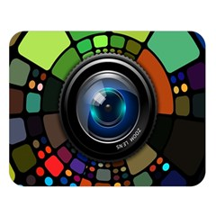 Lens Photography Colorful Desktop Double Sided Flano Blanket (large)
