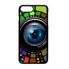 Lens Photography Colorful Desktop Apple Iphone 8 Plus Seamless Case (black)