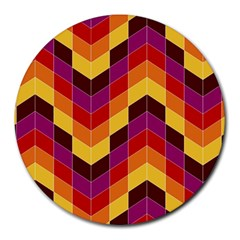 Geometric Pattern Triangle Round Mousepads by Nexatart
