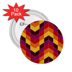 Geometric Pattern Triangle 2 25  Buttons (10 Pack)