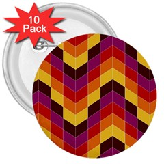 Geometric Pattern Triangle 3  Buttons (10 Pack)