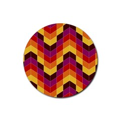 Geometric Pattern Triangle Rubber Coaster (round)