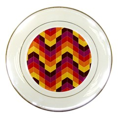 Geometric Pattern Triangle Porcelain Plates