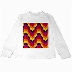 Geometric Pattern Triangle Kids Long Sleeve T Shirts