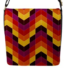 Geometric Pattern Triangle Flap Messenger Bag (s)