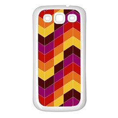 Geometric Pattern Triangle Samsung Galaxy S3 Back Case (white)