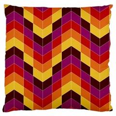 Geometric Pattern Triangle Standard Flano Cushion Case (two Sides)