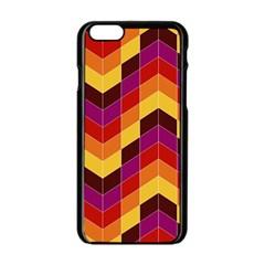 Geometric Pattern Triangle Apple Iphone 6/6s Black Enamel Case