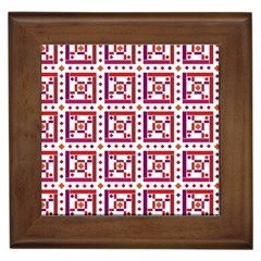 Background Abstract Square Framed Tiles