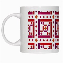Background Abstract Square White Mugs