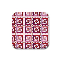 Background Abstract Square Rubber Square Coaster (4 Pack)