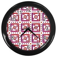 Background Abstract Square Wall Clocks (black)