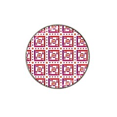 Background Abstract Square Hat Clip Ball Marker