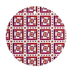 Background Abstract Square Round Ornament (two Sides)