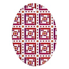 Background Abstract Square Oval Ornament (two Sides)