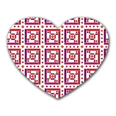 Background Abstract Square Heart Mousepads by Nexatart