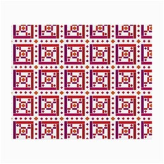 Background Abstract Square Small Glasses Cloth (2 Side)