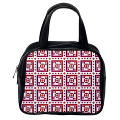 Background Abstract Square Classic Handbags (one Side)