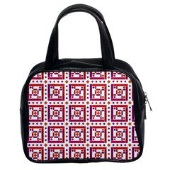 Background Abstract Square Classic Handbags (2 Sides)