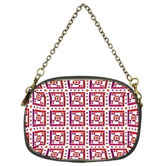 Background Abstract Square Chain Purses (two Sides)