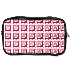 Background Abstract Square Toiletries Bags