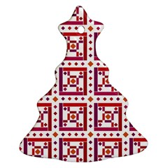 Background Abstract Square Christmas Tree Ornament (two Sides)