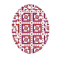 Background Abstract Square Oval Filigree Ornament (two Sides)