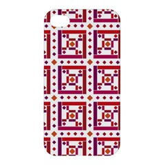 Background Abstract Square Apple Iphone 4/4s Premium Hardshell Case