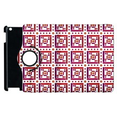 Background Abstract Square Apple Ipad 3/4 Flip 360 Case