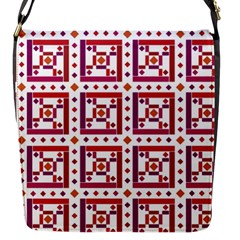 Background Abstract Square Flap Messenger Bag (s)