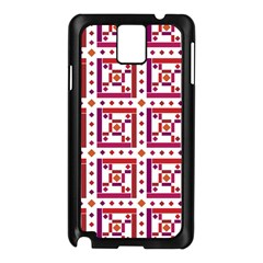 Background Abstract Square Samsung Galaxy Note 3 N9005 Case (black)