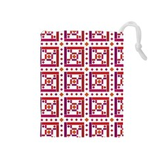 Background Abstract Square Drawstring Pouches (medium)
