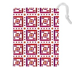 Background Abstract Square Drawstring Pouches (xxl)