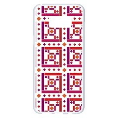 Background Abstract Square Samsung Galaxy S8 Plus White Seamless Case