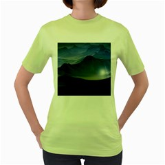 Planet Discover Fantasy World Women s Green T Shirt