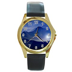 Planet Discover Fantasy World Round Gold Metal Watch