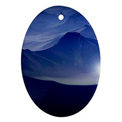 Planet Discover Fantasy World Oval Ornament (two Sides)