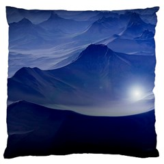 Planet Discover Fantasy World Large Flano Cushion Case (one Side)