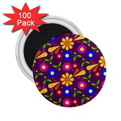 Flower Pattern Illustration Background 2 25  Magnets (100 Pack)
