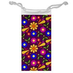 Flower Pattern Illustration Background Jewelry Bag