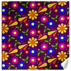Flower Pattern Illustration Background Canvas 20  X 20