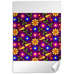 Flower Pattern Illustration Background Canvas 24  X 36