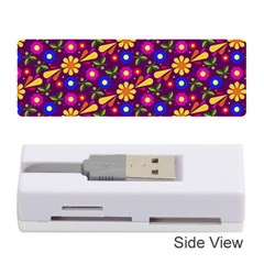 Flower Pattern Illustration Background Memory Card Reader (stick)