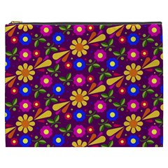 Flower Pattern Illustration Background Cosmetic Bag (xxxl)