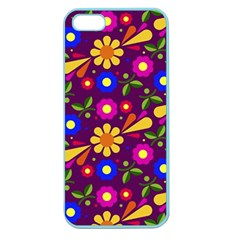 Flower Pattern Illustration Background Apple Seamless Iphone 5 Case (color)