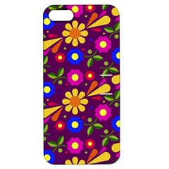 Flower Pattern Illustration Background Apple Iphone 5 Hardshell Case With Stand