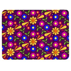 Flower Pattern Illustration Background Samsung Galaxy Tab 7  P1000 Flip Case